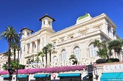 Fasada th Miejski Uprawia hazard Kasynowy San Remo, Liguria Włochy zdjęcia stock