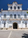 Fasada urząd miasta na placu Sertorio Evora Portuga Zdjęcie Stock