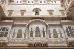 Fasada w Junagarh forcie w Bikaner, India Zdjęcie Royalty Free