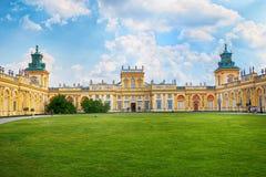 Fasada Wilanow pałac w Warszawa, Polska fotografia royalty free