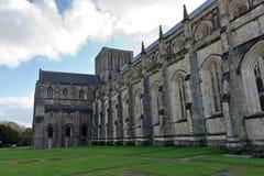 Fasada Winchester katedra w Anglia Zdjęcie Stock