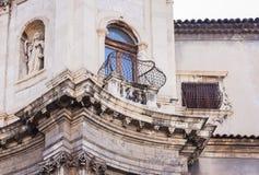 Fasada wygłupy barokowa katedra w Catania, Sicily, Włochy obrazy stock