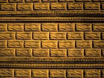 Fasada z wyrzuconymi cegłami i formierstwami Zewnętrzna tekstura zdjęcia royalty free