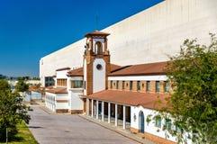 Fasada zaragoza stacja kolejowa - Hiszpania fotografia stock