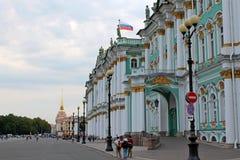 Fasada zima pałac St Petersburg zdjęcie royalty free