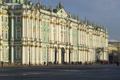 Fasada zima pałac, chmurny Luty dzień St Petersburg Obraz Royalty Free