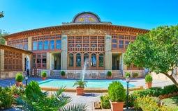 Fasada Zinat Ol-Molk dwór, Shiraz, Iran Zdjęcia Stock
