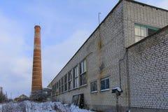 Fasada zniszczony i zaniechany piekarnia budynek Zdjęcie Stock