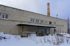 Fasada zniszczony i zaniechany piekarnia budynek Fotografia Stock