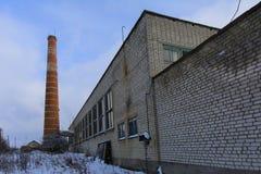 Fasada zniszczony i zaniechany piekarnia budynek Obraz Royalty Free