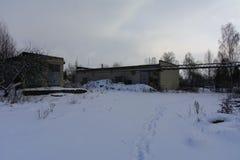 Fasada zniszczony i zaniechany piekarnia budynek Zdjęcie Royalty Free