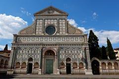 Fasadbasilikadi Santa Maria Novella Florence Firenze Tuscany Italy Royaltyfri Foto