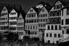 FasadCityscape av Tubingen Schwarzwald Tyskland royaltyfri fotografi