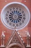 Fasaddetaljer av St Antoine Church royaltyfri bild