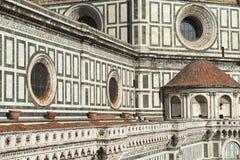 Fasaddomkyrka Santa Maria del Fiore Duomo, Florence Arkivfoto