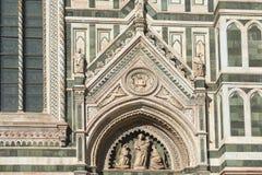 Fasaddomkyrka Santa Maria del Fiore Duomo, Florence Arkivbilder