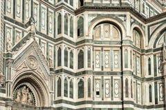 Fasaddomkyrka Santa Maria del Fiore Duomo, Florence Arkivfoton