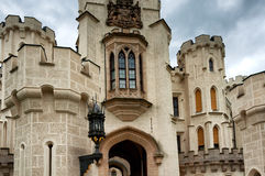 Fasade of Castle in Hluboka nad Vltavou Royalty Free Stock Photography
