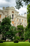 Fasade of Castle in Hluboka nad Vltavou Royalty Free Stock Photo
