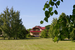 Fasade of detached house. Stock Photo