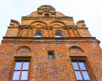 The fasade of old house at the street of Old Town in Kaunas Stock Images