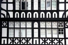 Fasade Tudor Art in Chester, Großbritannien Lizenzfreies Stockfoto