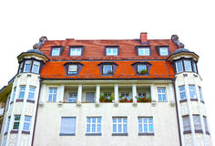 The fasade of typical residential house of Munich in Bavaria Royalty Free Stock Photos