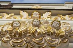 Fasade von Uspensky-Kathedrale in Kiew Stockfoto