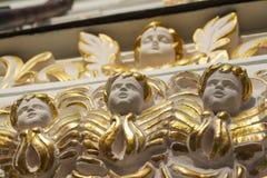 Fasade von Uspensky-Kathedrale in Kiew Stockbilder
