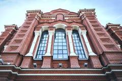 Fasaden av antagandedomkyrkan i Tula, Ryssland arkivbild