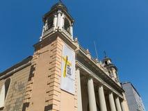 Fasaden av kyrkan av San AgustÃn, i den historiska mitten arkivfoto