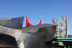Fasaden specificerar av Guggenheim Royaltyfri Foto
