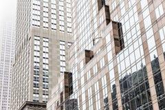 Fasader av byggnaderna i Manhattan Royaltyfria Bilder
