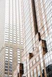 Fasader av byggnaderna i Manhattan Arkivbilder