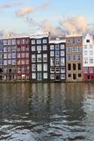 Fasader av historiska byggnader, Amsterdam Royaltyfria Bilder