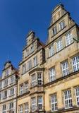 Fasader av historiska hus på marknadsfyrkanten i Bremen Royaltyfria Foton