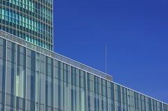 Fasader av moderna byggnader Arkivbild