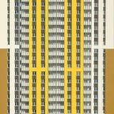 Fasader av skyskrapor, närbild arkivfoton