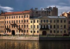 Fasader av St Petersburg Ryssland arkivfoto
