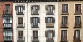 Fasader med fönster Royaltyfria Foton