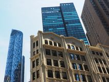 Fasader och byggnader i New York City royaltyfria foton