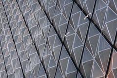 Fasadowa metal powierzchnia w postaci tesselated rhombuses Fotografia Royalty Free