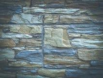 Fasadowe płytki imituje kamienną teksturę w retro przełazie zdjęcia royalty free