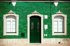fasadowe zielonego domu stare płytki Fotografia Royalty Free