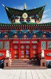 fasadowej czerepu ziemi czysta świątynia Obraz Stock