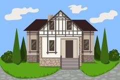 Fasadowi ryglowi domy Zdjęcie Royalty Free