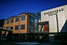 Fasadowy budynek Birkenhead punktu Fabrycznego ujścia Centre jest jeden Sydney kochający robiący zakupy miejsce przeznaczenia obraz royalty free