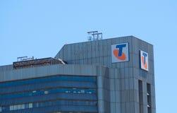 Fasadowy budynek Ograniczający Telstra Korporacja jest Australia telekomunikacji wielkim firmą obraz stock