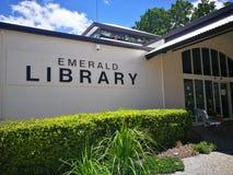 Fasadowy budynek Szmaragdowa biblioteka fotografia stock