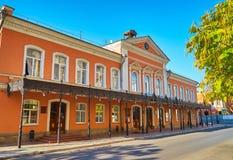 Fasadowy dramata teatr i ulica przed teatrem Fotografia Stock